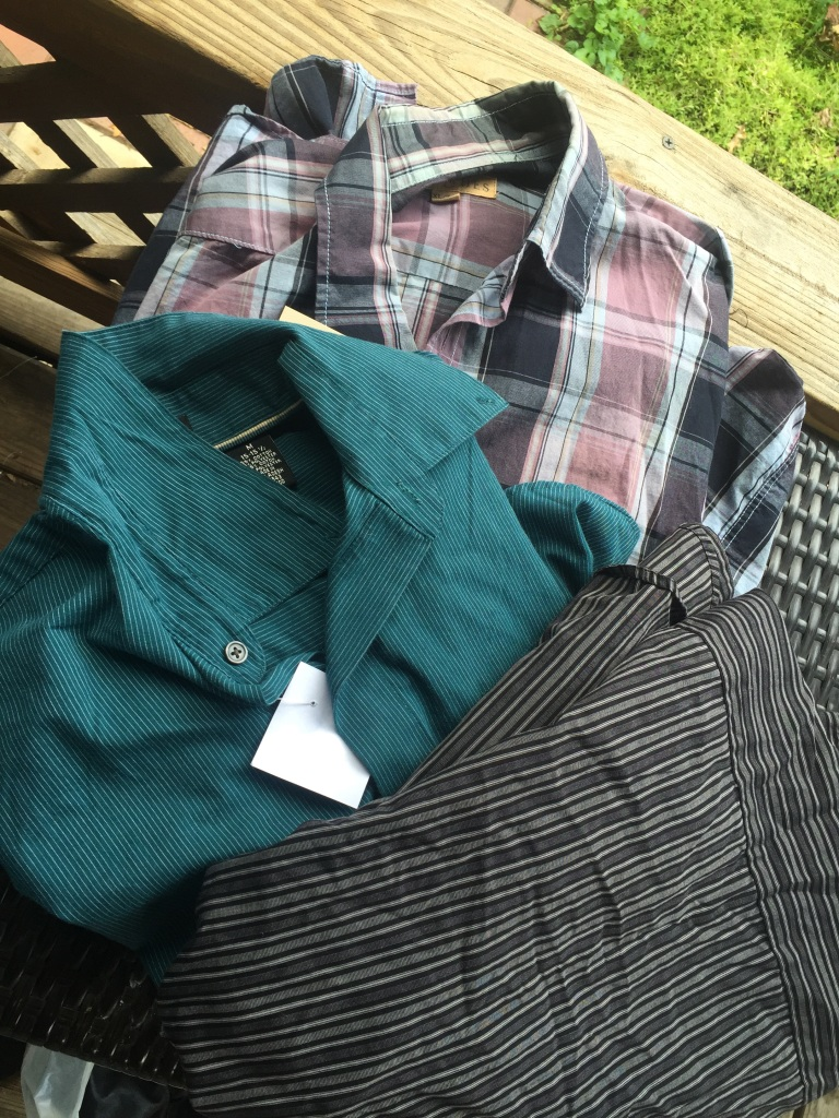 A couple of men's shirts to alter into tops!