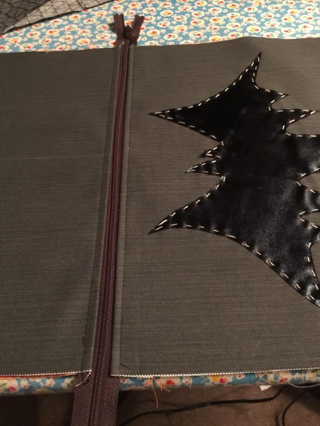 bat bag top stitch